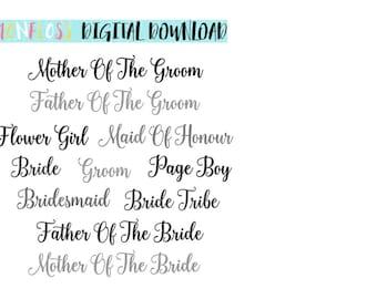 Wedding SVGs Bundle, Marriage SVG, Bride SVG, svg Files, Bridal Svg, Bridesmaid svg, vinyl cut file, svg cutfiles, cricut bride design