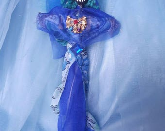 Voodoo Doll Yemaya Mother to All, Goddess Of the Sea, Handmade Authentic Altar Doll Loa New Orleans Vodou Poppet Mothers Day