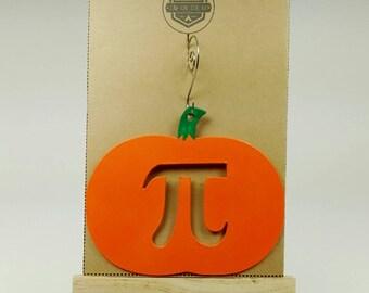 Pumpkin Pi Ornament - Holiday Ornament - Pi Day - Math Geek - Teacher Gift - Gift Exchange - Math Teacher - Teacher Appreciation - Rear View