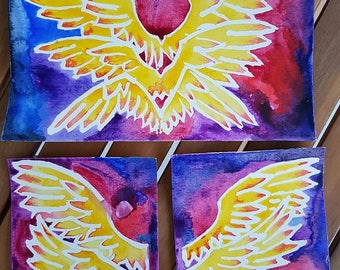 Inspired by Gabriel Supernatural watercolor