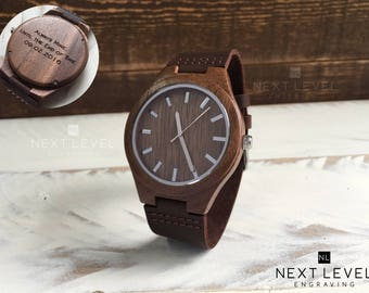 Husband Gift, Wooden Watch Men, Gifts for Him, Personalized Gift for Boyfriend Anniversary Gifts for Husband Birthday Gift Wood Watch