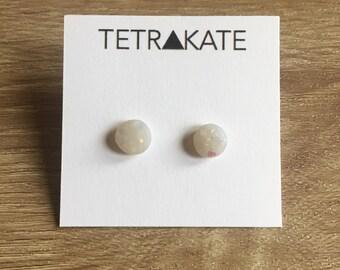 Opal Stud Earrings | Medium Opal Stud Earrings | Minimaliist Earrings | Geometric Stud Earrings | Simple Stud Earrings | Opal Earrings