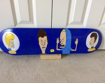 Beavis and Butthead Painted Skateboard
