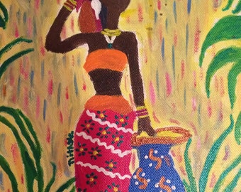 Colorful African Lady