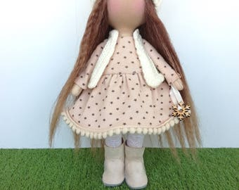 Textile doll Handmade doll Fabric doll Tilda doll Soft doll Cloth doll rag doll art doll tilda handmade doll fabric doll Patricia
