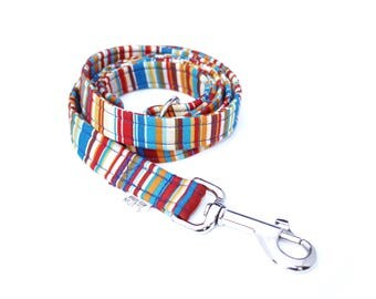 Blue Rainbow Dog Lead
