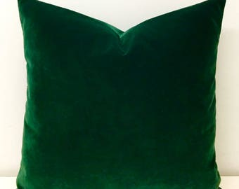 Dark Green Velvet Pillow Cover, Throw Pillow, Green Pillows, Velvet Pillow, Luxury Pillow, Decorative Pillows, Green Velvet Cushion Covers