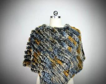 Gussalen Fur Cape/Real Rabbit Fur/Medieval Renaissance Viking Costume/Fur Stole/Fur Coat/Shawl Poncho/Wedding Bridal Accessory/The Kingdom