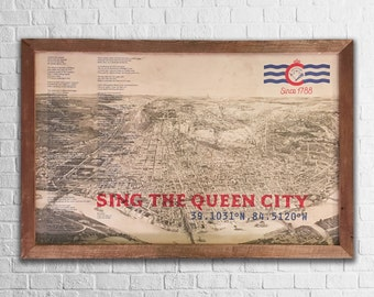 Sing The Queen City Print + Frame