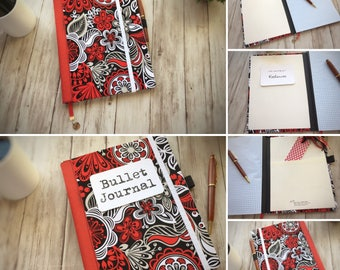 Customizable Notebook — School  Notebook — Fabric Covered Notebook — Doodle Notebook  — Blank Planner — Personal Journal — BuJo