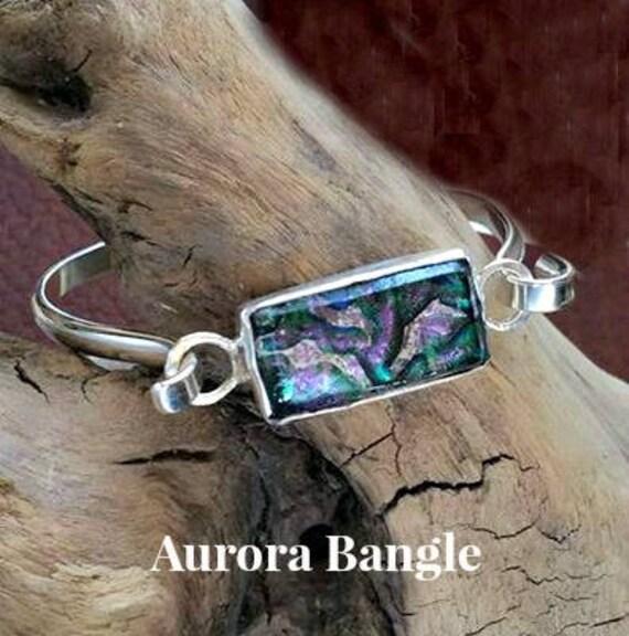 Memorial Bangle Bracelet in Sterling Silver