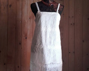 DRESS CALAIS lace ivory to order the item in stock T38 46 - a 34/36