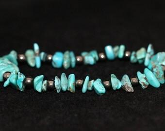 No. 4 Turquoise and Hematite Bracelet (Handmade)