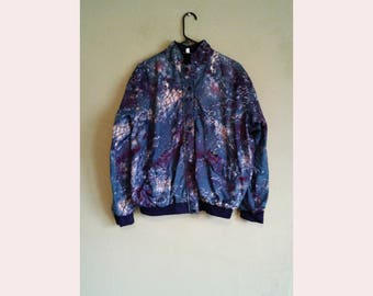GoreTex Bomber Jacket Paint Splatter Size Large