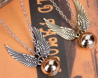 Harry Potter Quidditch Snitch Necklace | Golden |Silver