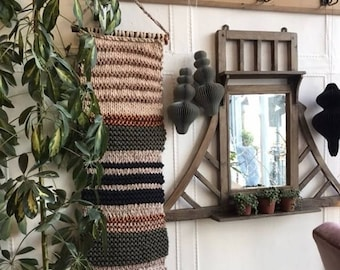 Copper stripe wallhanging