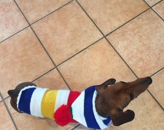 SALE ITEM Striped Hoodie for Dachshund Dog