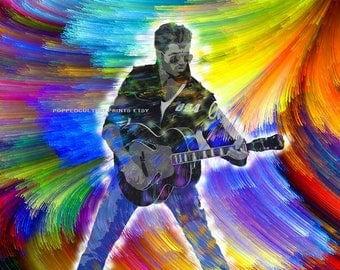 George Michael Fan, Print or Canvas, Wham, George Michael Tribute Art, Pop Music Legend, Faith, Father Figure Singer, Music Lover Wall Art