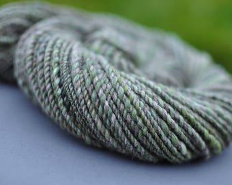 Soft rustic handspun woolen yarn