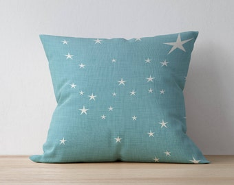 Square Pillow, Decorative Pillow, Star pattern, Boy Room Throw Pillow, Kids Pillow Cushion, Home decor, Nursery Decor, Scandinavian pillow