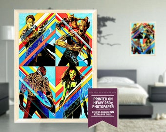guardians of the galaxy poster, fan art, digital drawing design, GIFT, guardians of galaxy print, guardians of the galaxy, guardians, 2014