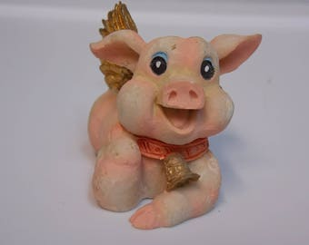 Vintage Flying Pig Figurine from Montefiori Collection
