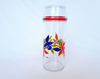 THE perfect FRANCE large glass jar, vintage flower jar