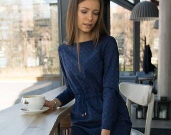 MODEST navy blue dress