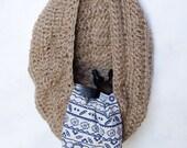 "Custom order for Scouted Home // Large Crochet Twine Hanging Basket / 14"" Diameter / Storage / Bath or Kitchen Basket / Rustic"