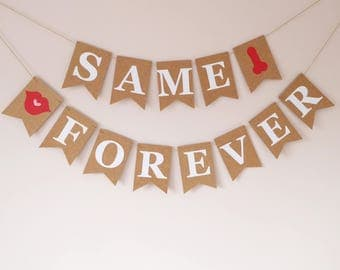 Same willy forever bunting, Hen party, Bachelorette party, Stag party, Bachelor party, Bridal shower, Wedding cecoration