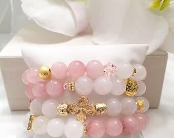 Lilikoi stack Bracelets Beaded Bracelets Layering Bracelets Stretch Bracelets