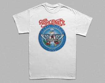 Aerosmith T-shirt Wayne's World inspired Garth Algar costume Halloween cosplay Men Kids Women size White Shirts