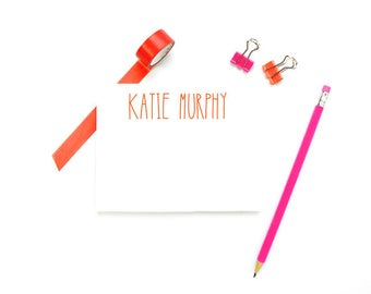 Personalized Stationary for Kids Personalized Stationary, Custom FLAT Note Cards, Girls Monogram Stationary Kids, Girls Note, SET OF 10