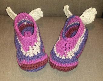 Angel Wing Slippers | Adult Crochet | Slippers for Women | Slipper Socks