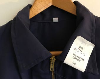 French workwear jacket, 216 M, NOS with tags size, deadstock, work wear, bleu de travail, chore coat, indigo, Sanfor, Adolphe Lafont