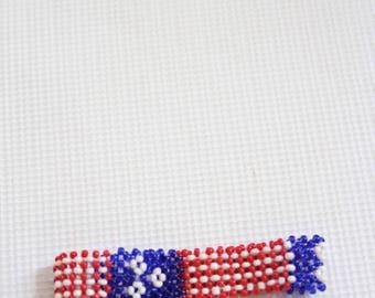 USA Flag bracelet, Maasai beaded bracelet, Masai bracelet, African jewelry