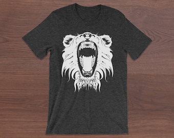 Roaring Beast Unisex T-Shirt Animal Print Unisex T-Shirt Bear Unisex T-Shirt Animal Lovers T-Shirt Gift T-Shirt Witty Novelty