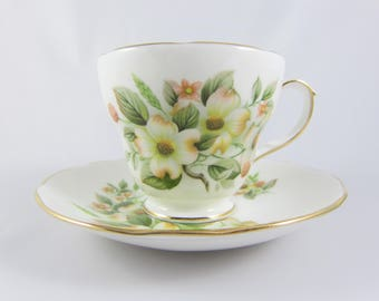 Vintage Duchess China Bone China Cup and Saucer, Made in England. Pattern 397
