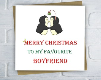 Funny Christmas Card For Boyfriend, Humour Christmas Card, Xmas Card, Christmas Card For Boyfriend, Free UK Shipping