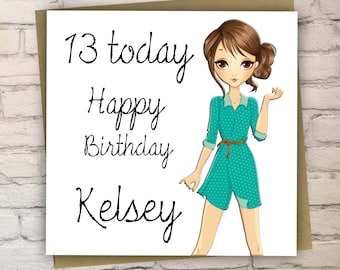 Teenager cards etsy personalised teenage birthday card13th birthday cardcards for girls teenagerhandmade bookmarktalkfo Gallery