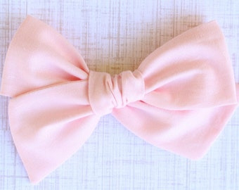OVERSIZED Pink Bow