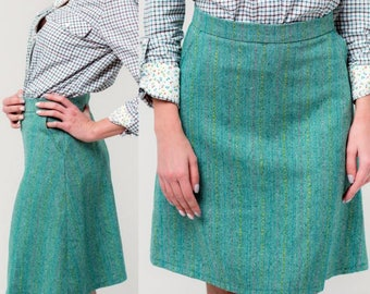 Wool Tweed Skirt,Woman Warm Skirt, Winter Skirt with pockets,Custom Skirt Vintage Skirt