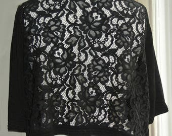 Vintage Black Lace Shrug Bolero