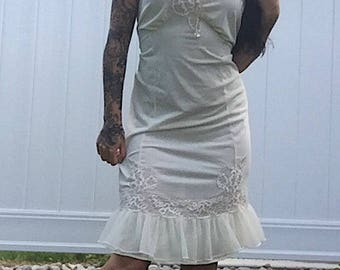 1960's Cream Slip Dress