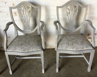 Set of Four Dining Chairs - Beautifully Painted