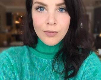 Vintage aqua sweater