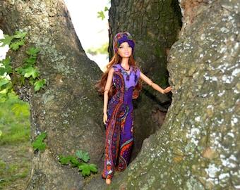 Barbie doll  clothes #BARBIE Jumpsuit # Barbie turban & beads.# barbie clothes handmade#Barbie accessories.