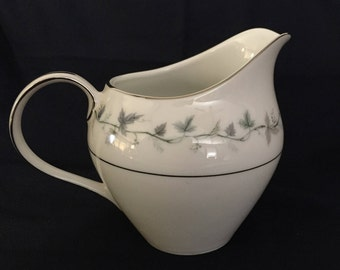 Gorgeous Hampton Fine China Monterey #2423 Creamer Scrolling Gray Green Vines and Leaves