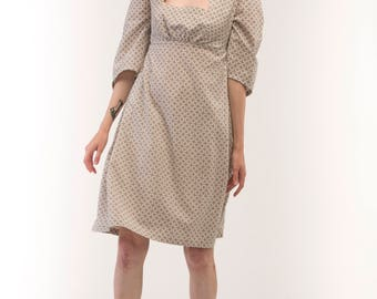 Minimal ethno dress / Cotton dress / Casual dress / Boho bress / Ethno dress / Dress with two pockets / Low-cut dress / Cool
