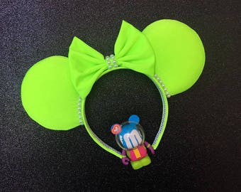 neon lime green mouse ears